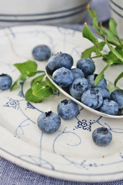 White and Blueberries