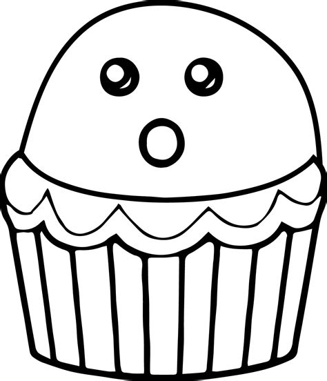 halloween cupcake coloring page wecoloringpagecom