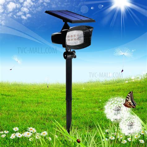 8 led 400 lumen solar spotlight outdoor landscape light
