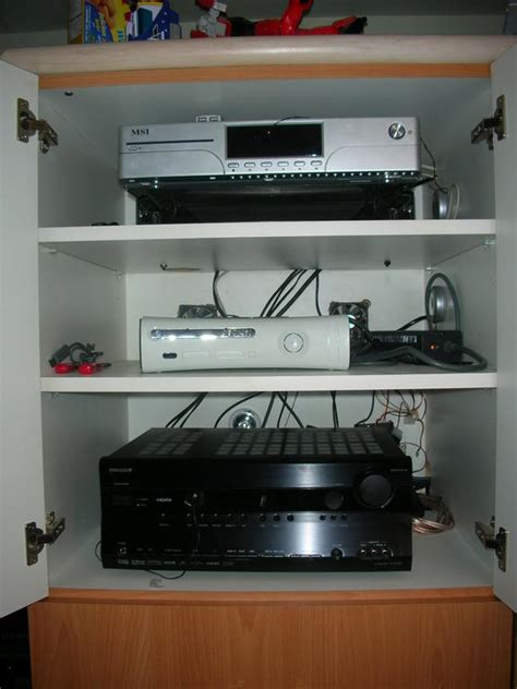 tv in kitchen cabinet my bedroom set up not bad for a 17 yr avs forum 6414