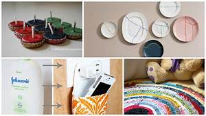 Tagged room decoration ideas using waste material