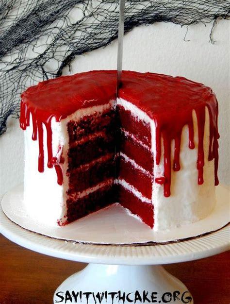 red velvet bloody halloween cake je fouine tu fouines