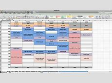 A ONE Series Production How to Make a Weekly Calendar