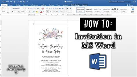 invitation  microsoft word diy wedding