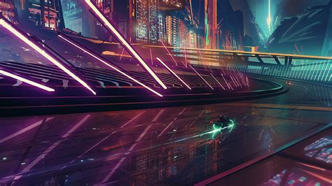 Anime Film Science Fiction Science Fiction Cyberpunk Motorcycle Cityscape Neon