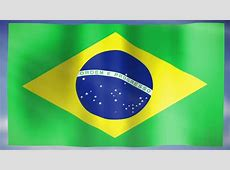 3D Animation Of National Flag Of Brazil, Waving In The