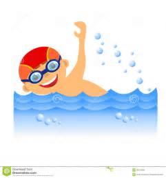 Cartoon Boy Swimming Clip Art