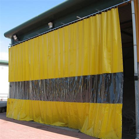industrial curtain with clear sheet haagh