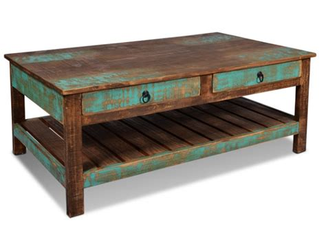 Moving into my new home, i sadly realized that a cottage by the greenbelt was going to look pretty strange with the sleek modern coffee table i had on my wishlist. Ventura Hand Painted Coffee Table | Rustic Furniture Mall by Timber Creek