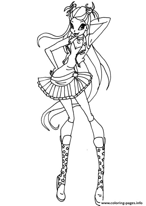 winx da colorare stella rock stella winx club coloring pages printable