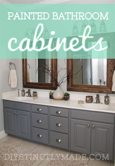 Best Color To Paint Bathroom Cabinets by Diy Painted Bathroom Cabinets House Ombre