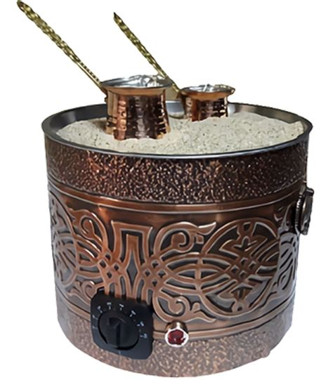 Creates a great foam and brews to perfection. Amazon.com: Authentic TURKISH ARABIC COPPER ELECTRIC HOT SAND COFFEE MAKER HEATER MACHINE 220V ...