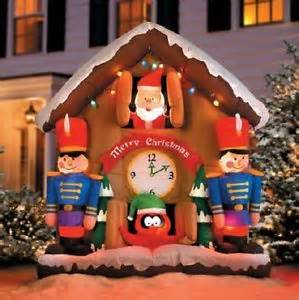 sale 6 outdoor airblown inflatable animated christmas cuckoo clock yard decor ebay