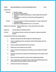 coaching resume sample madratco With basketball coach resume