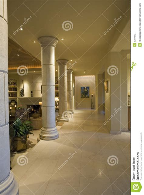 columns  house hallway royalty  stock photography