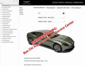 Aston Martin Dbs Workshop Service Manual Wiring Diagram