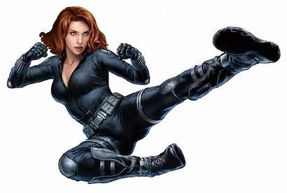 Widow Avengers Marvel Clipart Kick Wallpapers Scarlett