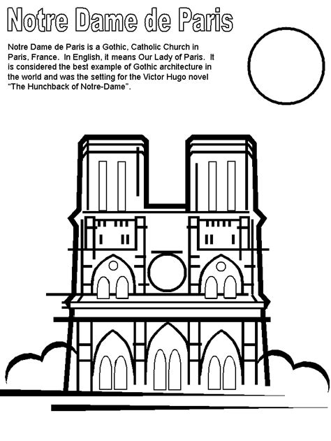 print coloring page  book notre dame france coloring