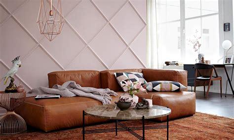 wohnen mit farben einrichten  braun und rosa