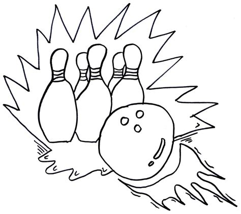 bowling coloring pages  childrens printable