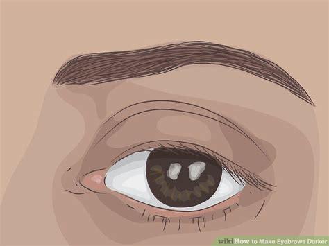 eyebrows darker  makeup  dye