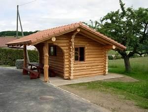 Cabanon En Bois : b timents annexes maison bois rond ~ Premium-room.com Idées de Décoration
