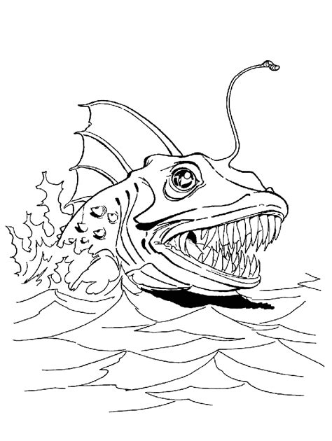 coloring page sea monsters