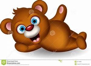 Cute Brown Bear Cartoon Posing Royalty Free Stock Photos ...