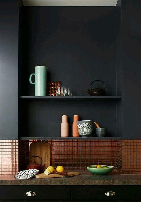 copper with dark grey walls h o m e i n t e r i o r