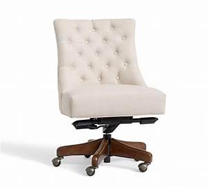 Hayes Tufted Swivel Desk Chair Pottery Barn AU
