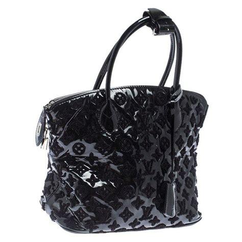 louis vuitton black limited edition monogram vernis fascination lockit bag  sale  stdibs