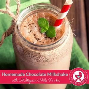 Homemade Chocolate Milkshake with Multigrain Milk Powder