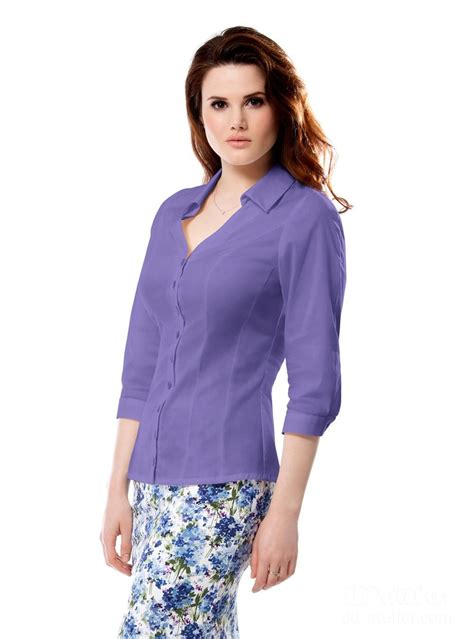 Blouse DD-basics with 3/4 sleeves in lilac   Clothes, 50 ...