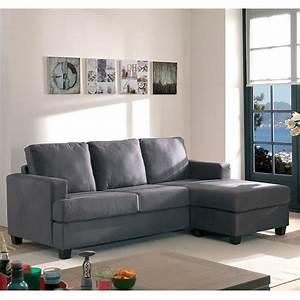 Canapé D Angle Assise Profonde : canap d 39 angle en tissu gris au style vintage ind modable ~ Melissatoandfro.com Idées de Décoration