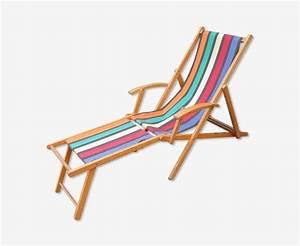 Chilienne En Bois : ancien transat en bois chaise longue chilienne ann es 50 bois mat riau multicolore ~ Teatrodelosmanantiales.com Idées de Décoration