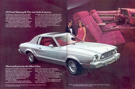 silver  ford mustang ii ghia special silver coupe