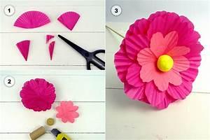 Einfache Papierblume Basteln : papierblumen als tischdeko f r den fr hling ~ Eleganceandgraceweddings.com Haus und Dekorationen