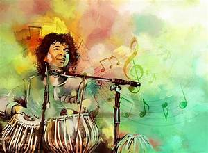 Zakir Hussain Painting by Catf