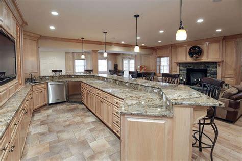 oak kitchen island with granite top 29 gorgeous kitchen peninsula ideas pictures designing