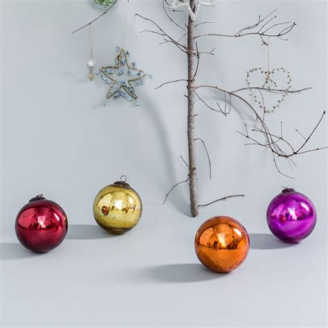 large bright baubles