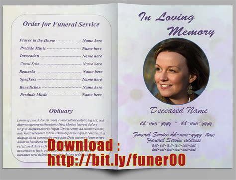 Free Editable Funeral Program Template Editable Funeral Program Template Microsoft Word