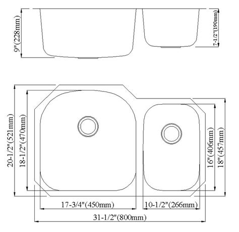 kitchen sink size guide double sink size befon for