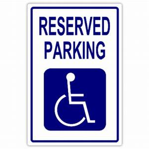 reserved parking 109 handicap parking sign templates With disabled parking template