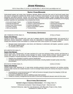 Manager Resume Sle by Supply Chain Resume Templates Supply Chain Manager In