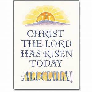 Christ the Lord Has Risen: Easter Card