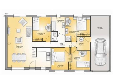 modele maison plain pied 4 chambres les 25 meilleures idées de la catégorie modele maison plain pied sur modele maison