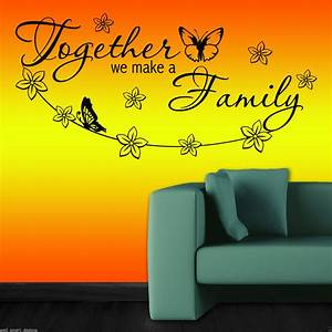 Together family wall art sticker decal mural decor self