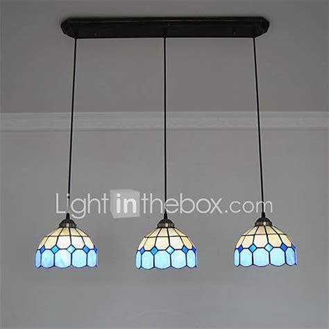 tiffany light fixtures dining room 8inch 3 lights retro tiffany pendant lights glass shade