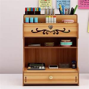 Wooden, Desk, Organizer, Multi