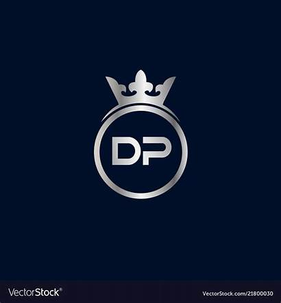Dp Letter Initial Vector Template Royalty